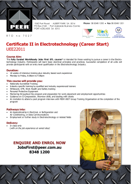 Certificate II in Electrotechnology Studies (Pre