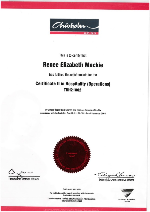 Certificate II in Hospitality Operations