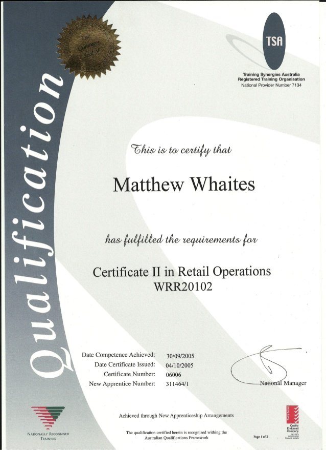 Whaites Certificate 2 in Retail Operations0001