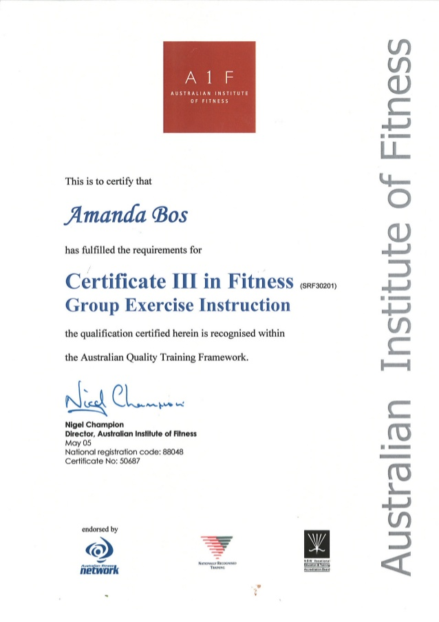 Certificate III in Fitness