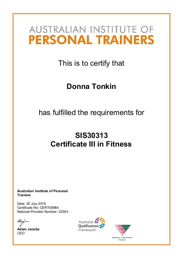 Cert III certificate