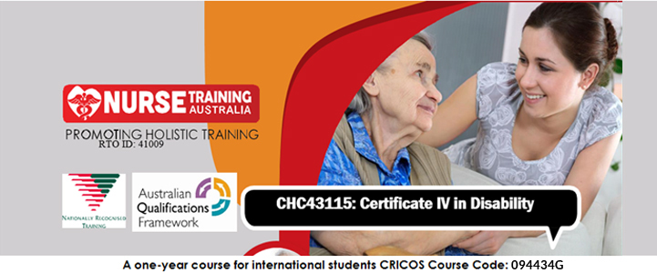 Nurse Training Australia » CHC43115 Certificate IV In Disability