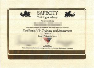 New site about the Certificate 4 in training and assessment | Jobs