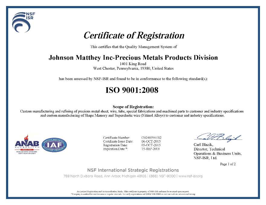 ISO 9001 2008 Certificate Greenway