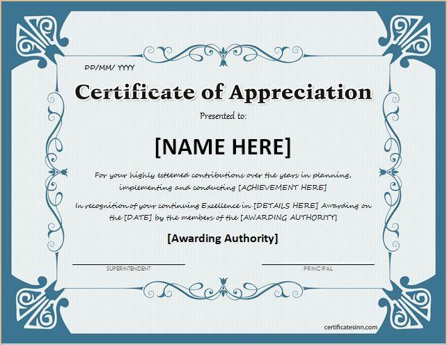 Best 25+ Certificate of appreciation ideas on Pinterest | Teacher