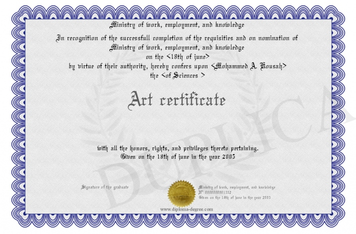 Ancient Art Certificate of Authenticity