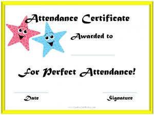 Certificate attendance template free download certificates attendance template free download certificate attendance yadclub Choice Image