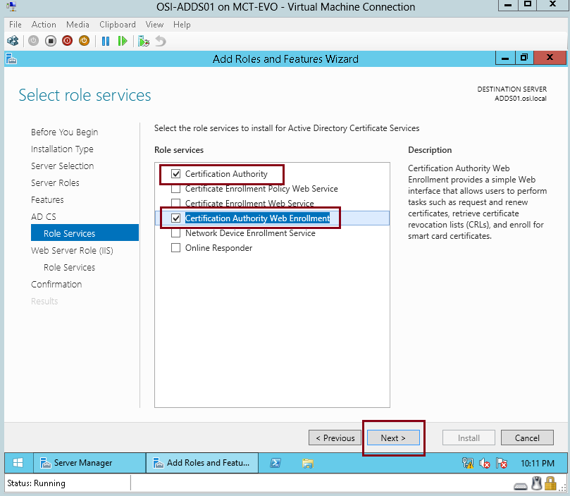 Install an Enterprise Certificate Authority in Windows 2008 R2