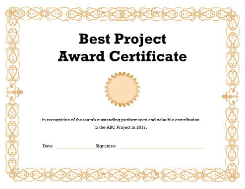 27 Printable Award Certificates [Achievement, Merit, Honor]