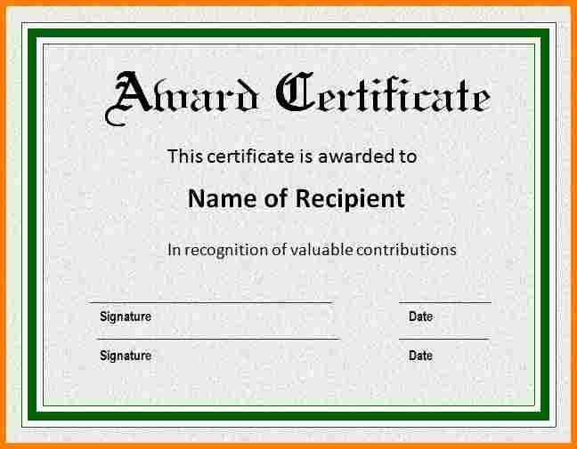 5+ sample certificate of award | sample of invoice