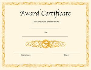 Award certificates ideas on Pinterest