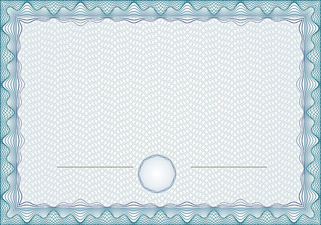 simple shading european certificate template background border