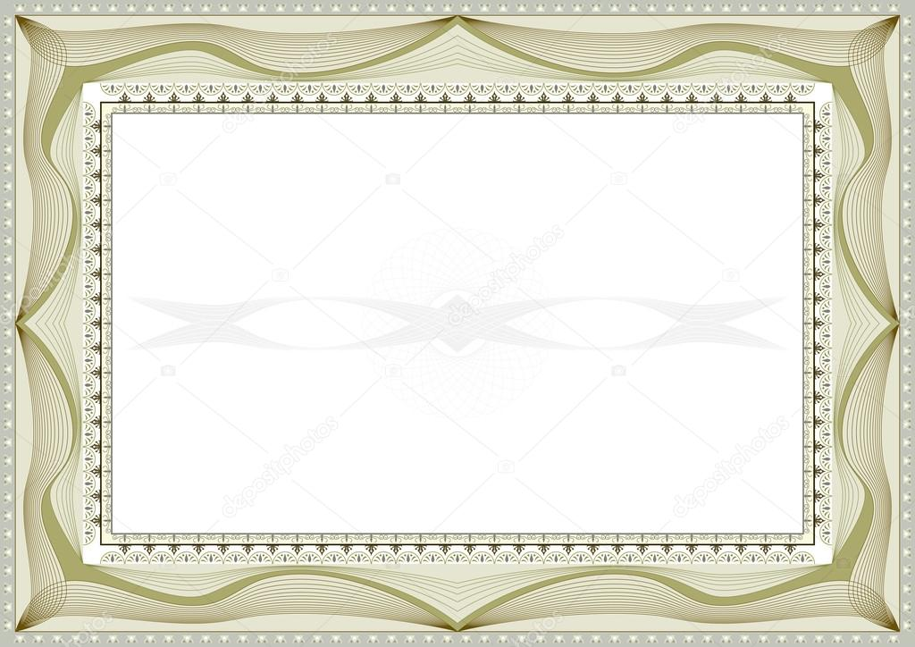 Certificate background — Stock Vector © bobyramone #7408176