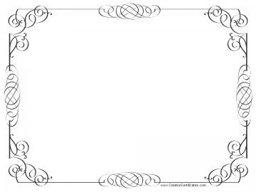 certificate border template word