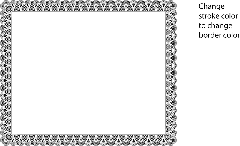 printable vintage background–Stock Vector certificate border
