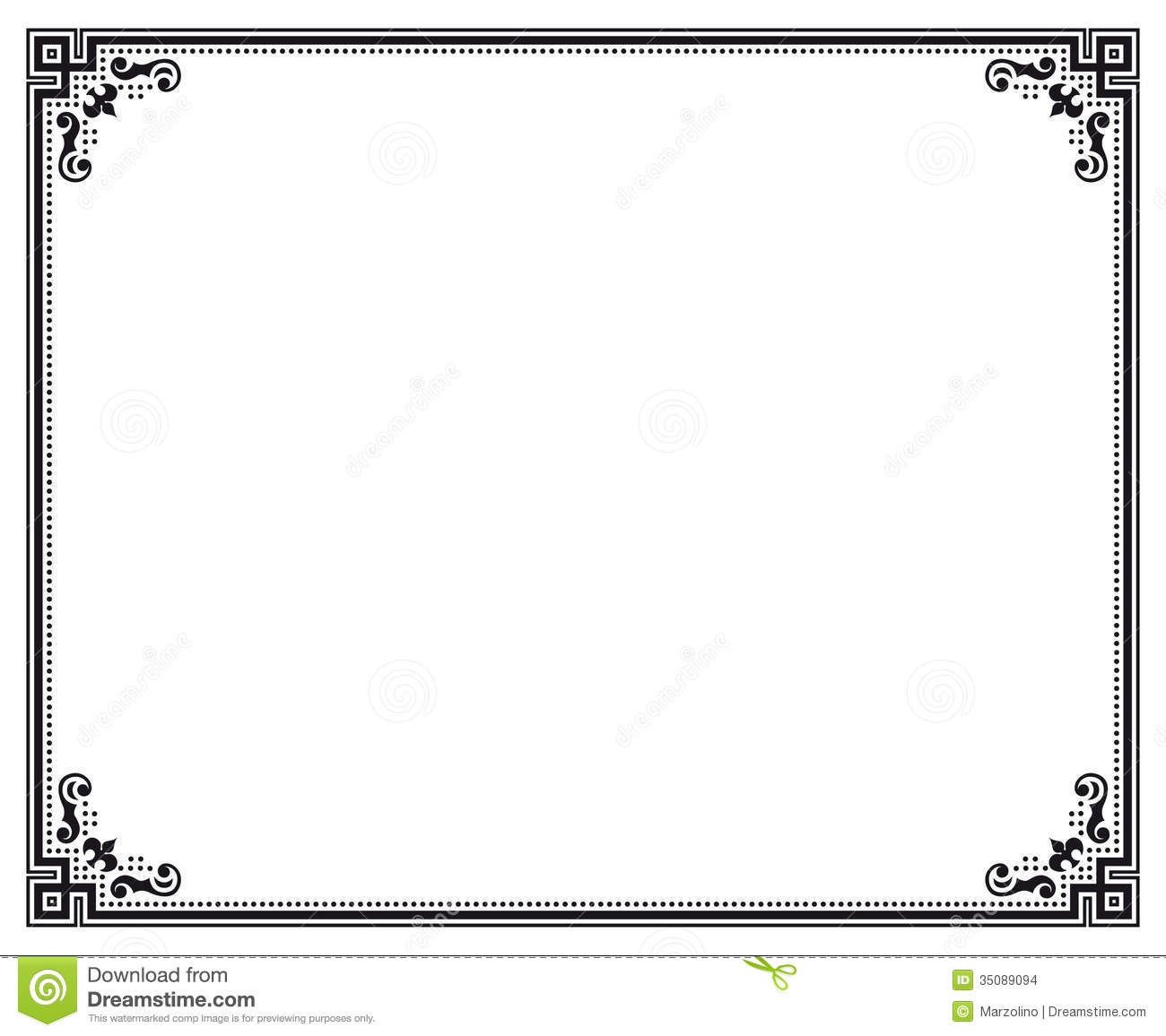 Royalty Free Certificate Border Clip Art, Vector Images