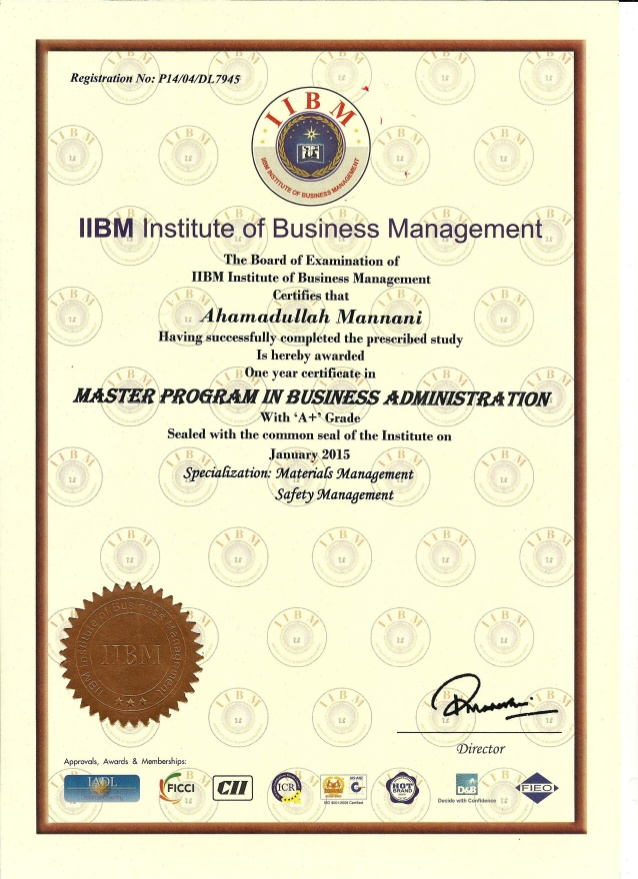 in Master Program in Business Administration