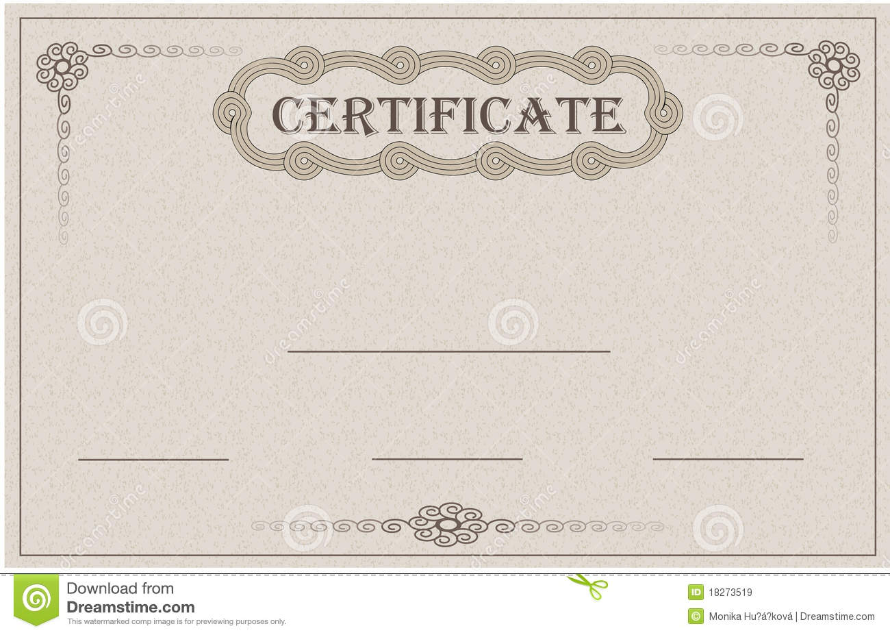 Certificate paper card stock vector. Image of packaging 18273519
