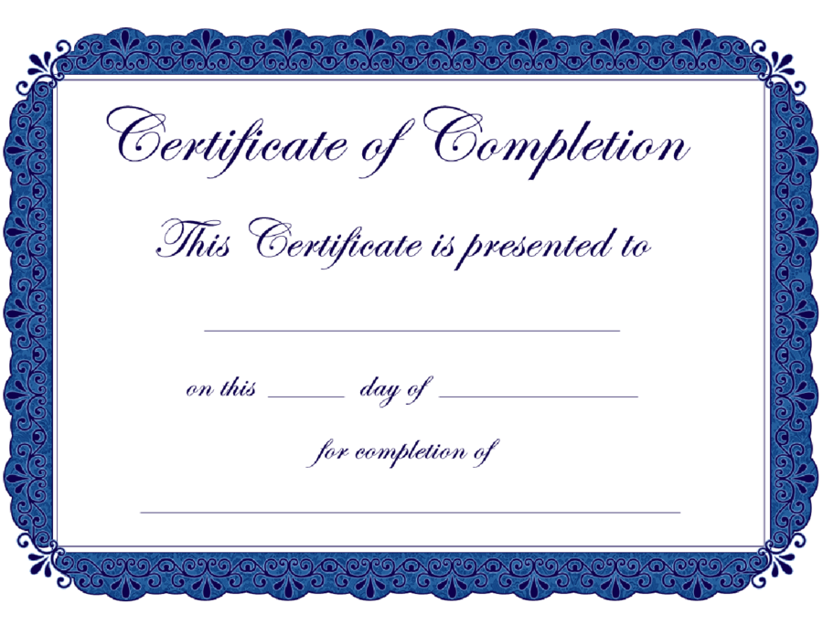 download certificate of completion - Leon.escapers.co