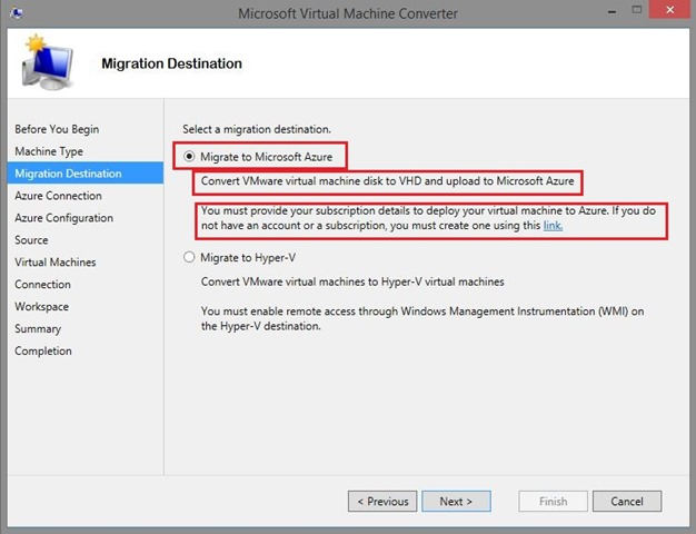 Virtual Machine Converter & Azure Storage