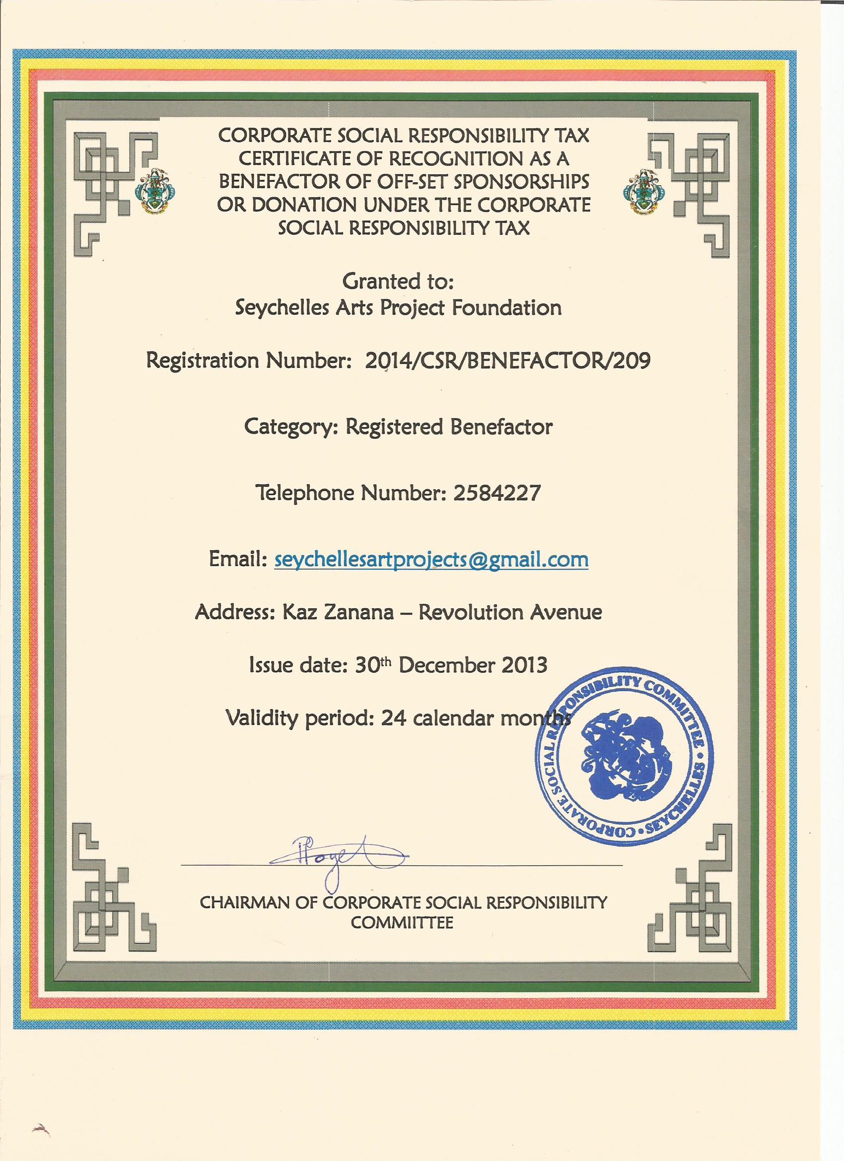 CSR Certificate