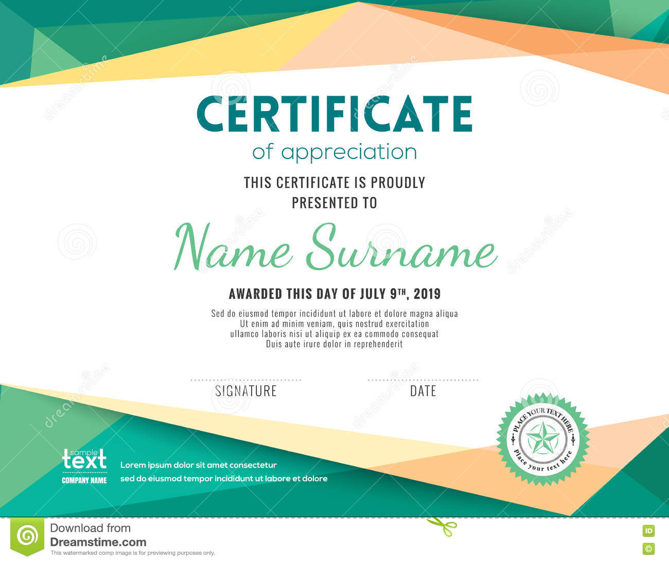 Certificate design background certificates templates free modern certificate background design template stock vector image 1betcityfo Gallery