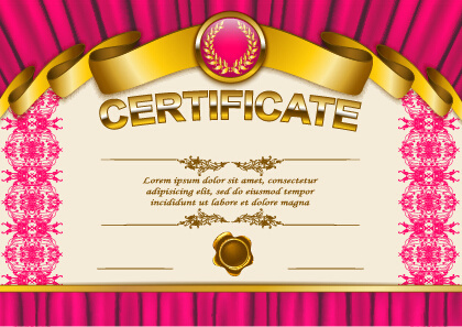 Certificate design template background free vector download