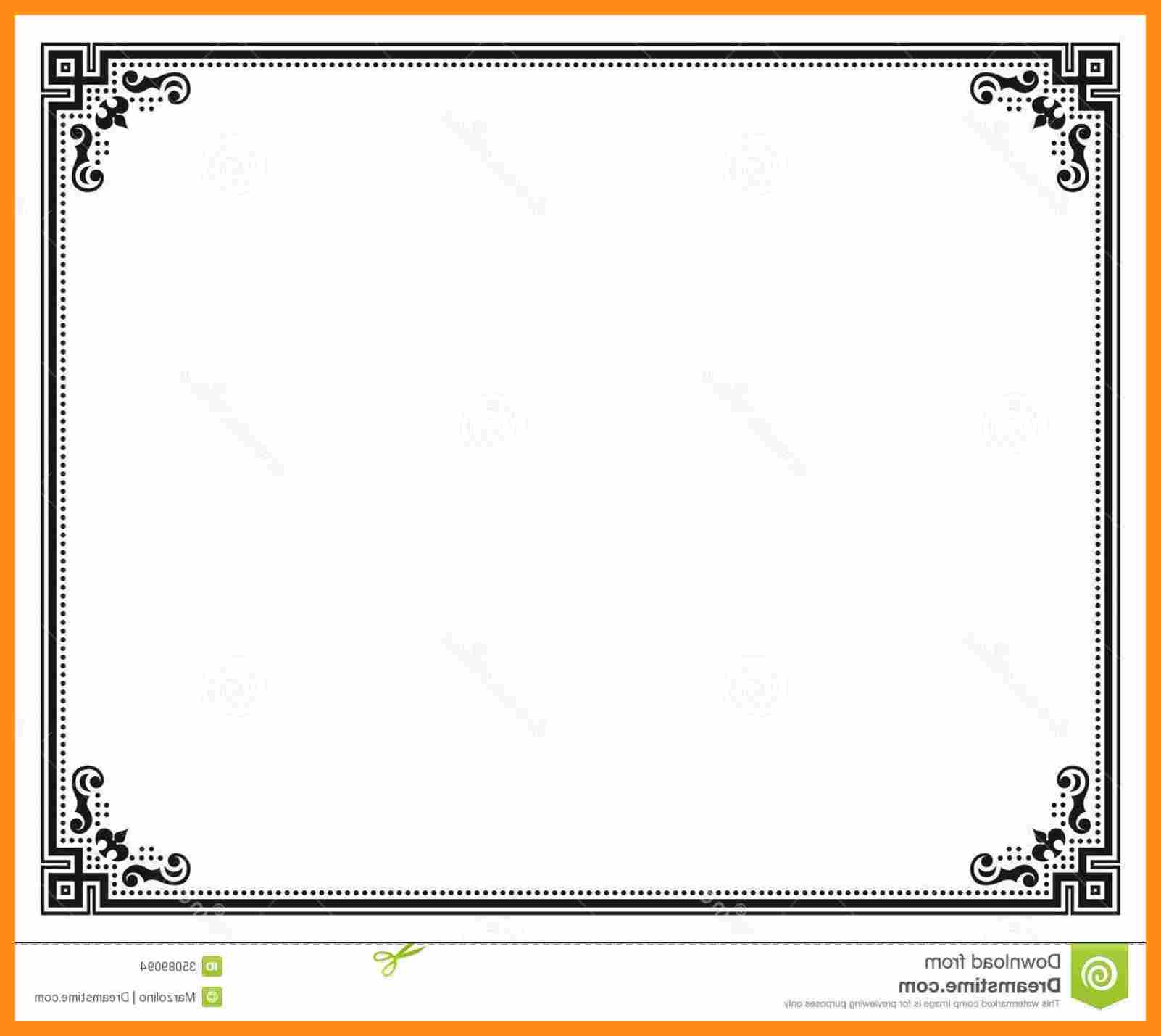 Free Printable Borders Award and Certificate Borders