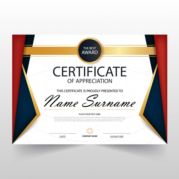Colorful luxury horizontal certificate design Vector | Free Download