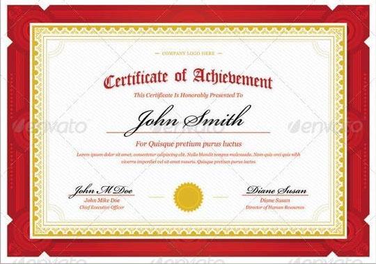 free certificate psd template 30 most popular certificate print