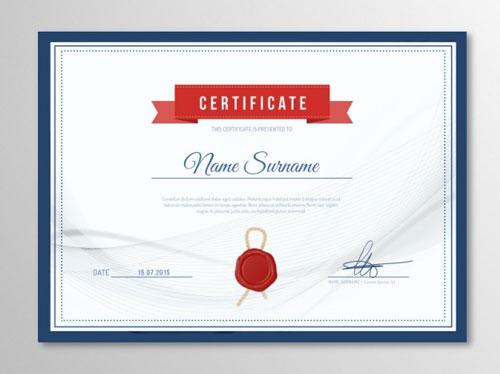 10 Sets of Free Certificate Design Templates | Designfreebies