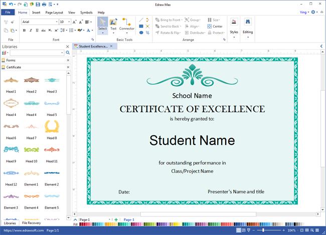 foto de Certificate Design Software certificates templates free