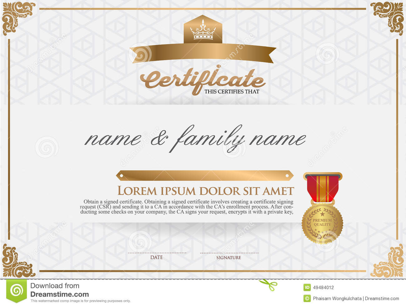 Certificate design templates free vector download (13,138 Free
