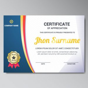 Certificate Design Templates Cdr Free Download Certificates