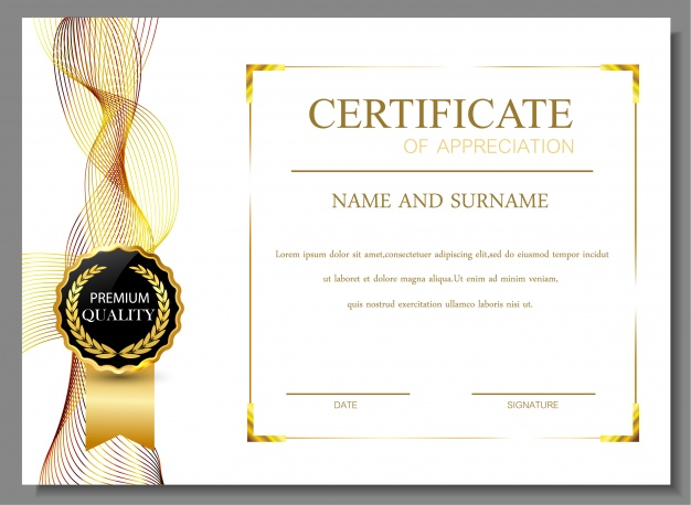 Gorgeous gold certificate design vector – Over millions vectors