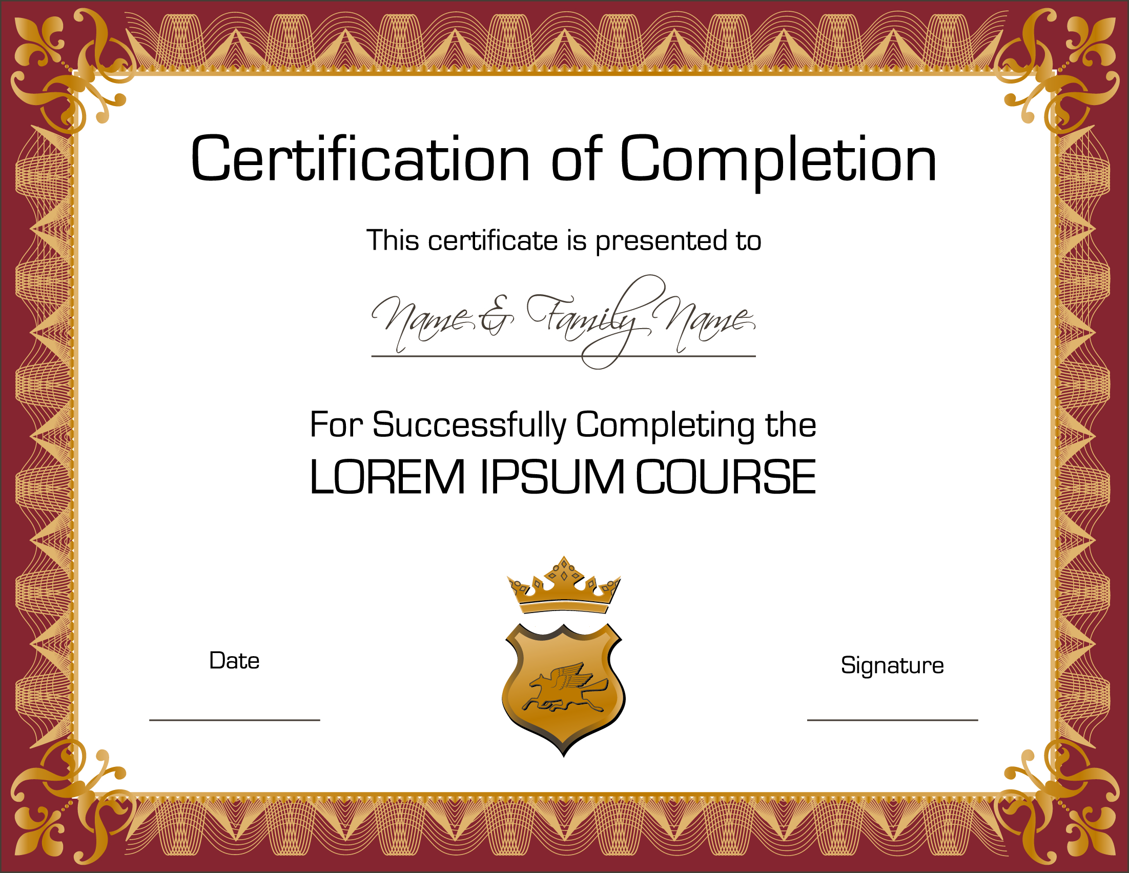 Three certificate design vector Free Vector / 4Vector