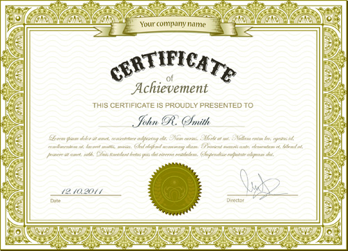 Printable Certificate Template 46+ Adobe Illustrator Documents