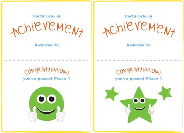 Phase 1 Editable Certificate | Free Early Years & Primary Teaching