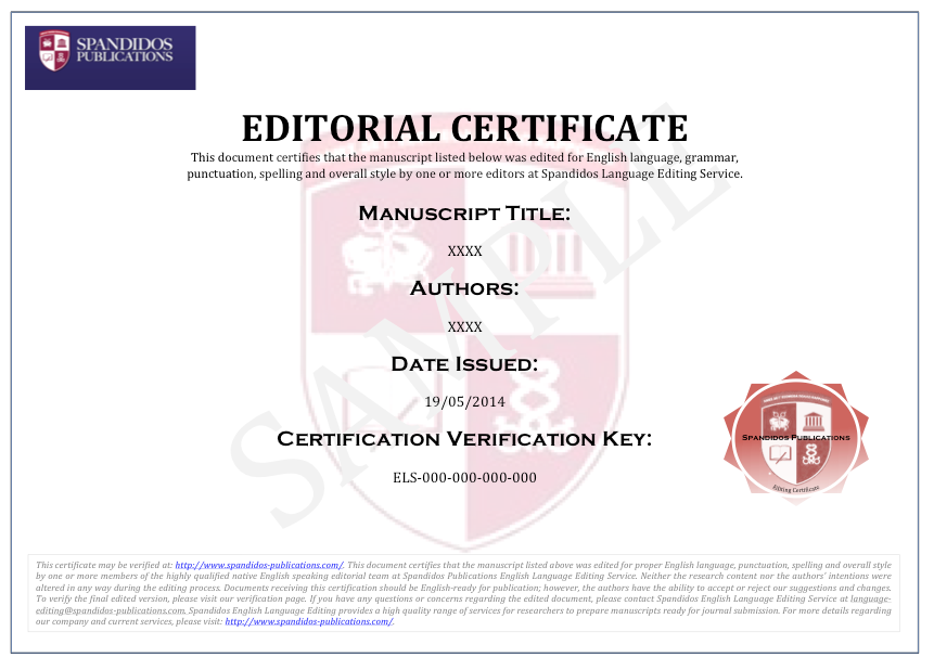 English Language Editing and Manuscript Services