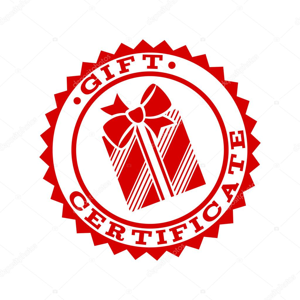 Gift certificate emblem symbol template. — Stock Vector