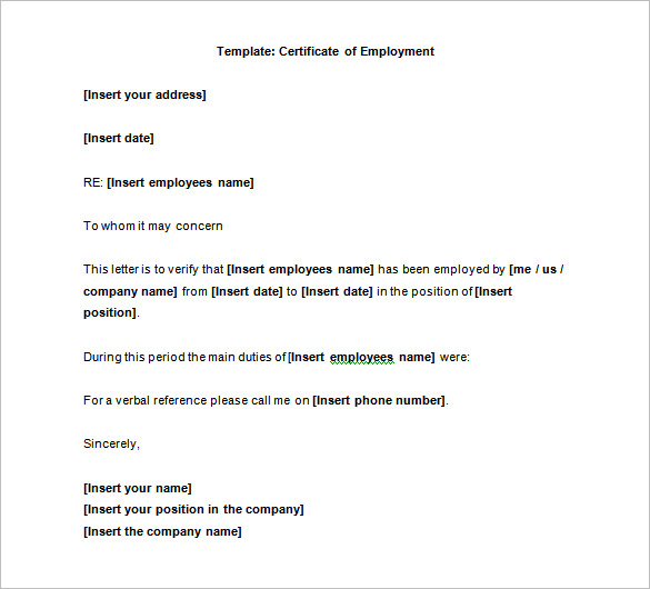 8+ sample employee certificate | sample of invoice