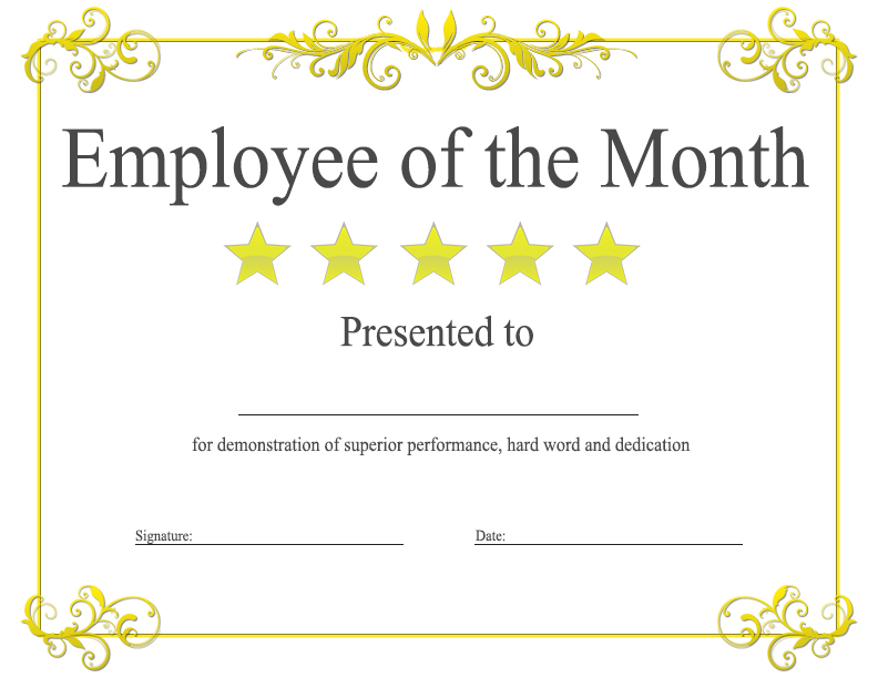 employee of the month powerpoint template employee of the month