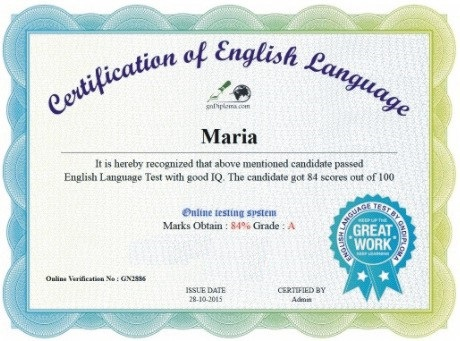 Online Test | English Language Certification