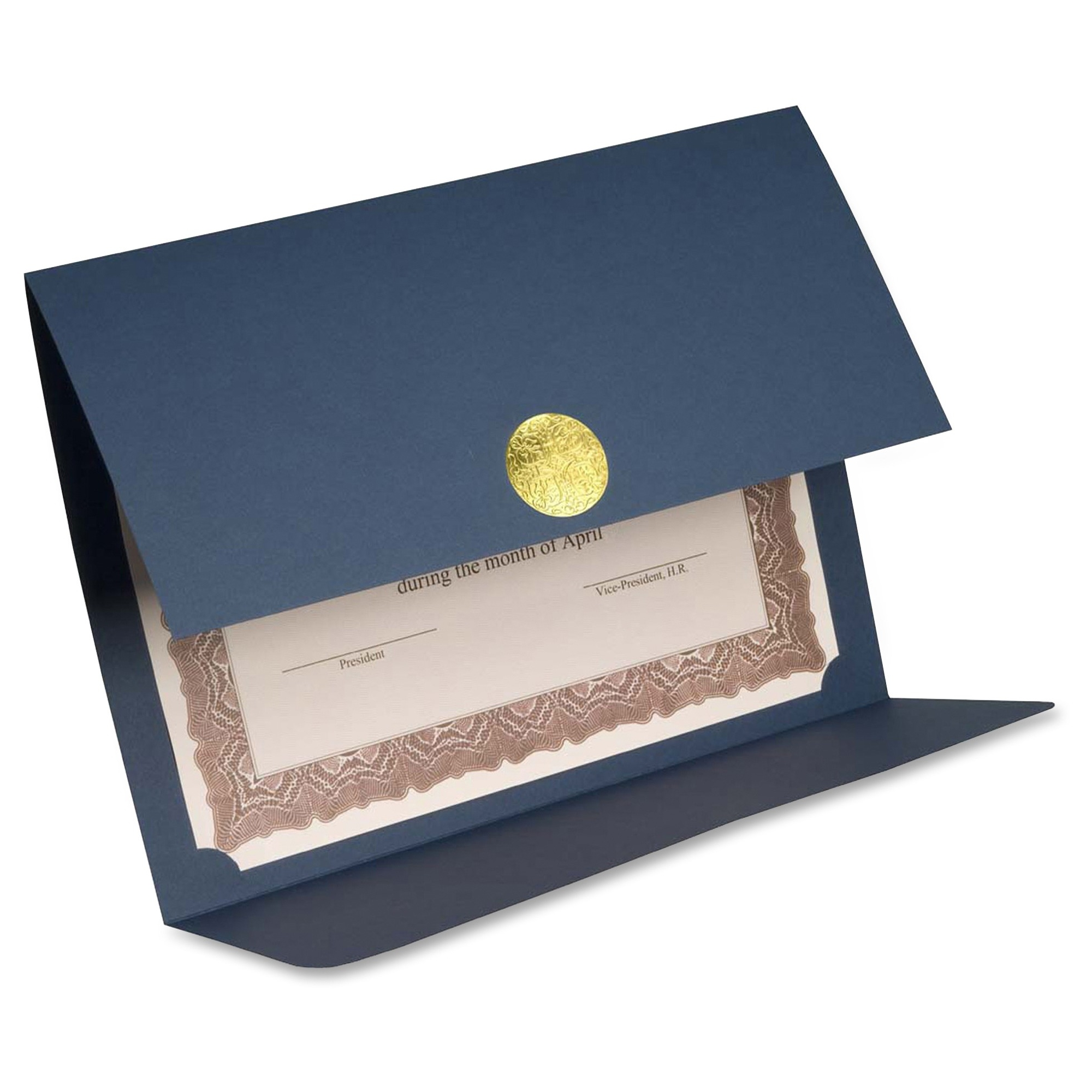 First Base 83534 Medallion Linen Certificate Holder Letter