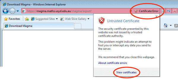 Troubleshoot SSL Certificate Errors in InterExplorer