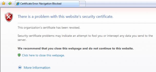 Certificate Error: Navigation Blocked Windows Support Neowin
