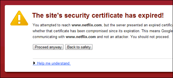 Solutions: The security certificate has expired!
