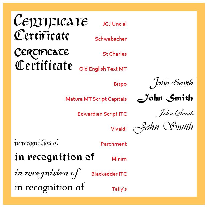Certificate Webfont & Desktop font « MyFonts