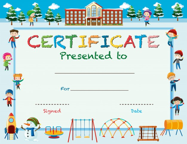Children's Certificates Free and Customizable Instant Download