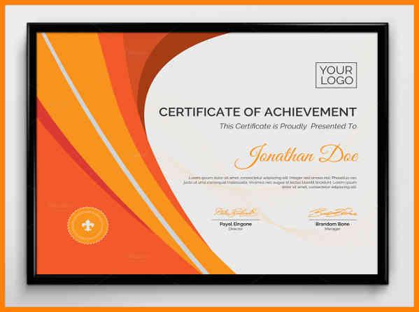 top performer certificate template